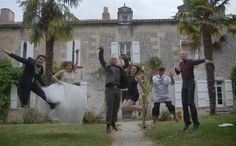 Awesome group wedding pic from my fairytale french wedding! http://tomorrowsomewhere.blogspot.com/2013/11/a-tale-of-two-weddings.html