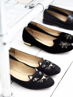 c38326f40d9dc charlotte olympia kitty shoes and spiderweb flats Cat Shoes, Charlotte  Olympia, Loafers, Porn