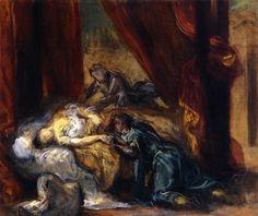 Eugene Delacroix. The Death of Desdemona (1858) | The Athenaeum.Org