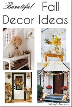 Beautiful Fall Decor Ideas for Indoors and Outdoors Setting for Four