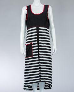 Animale long dress striped motif #WomenDress #Dress #SummerDress #Animale #WomenWear #WomenFashion