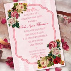 bridal shower invitations victorian bridal shower invitations pink bridal shower invitations victorian invitations tea party in262