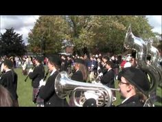 ALMA COLLEGE FIGHT SONG!!  ▶ Alma College Marching Band 10 Oct 2009 Alumni Tent Performance - YouTube