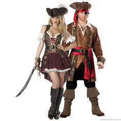 pirate captain skullduggery and swashbuckler sexy couples costume - Halloween Costumes 2013