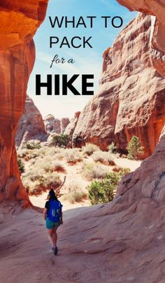 What to pack for a hike. Hiking packing list for beginners for day hikes or vacation. Hiking tips when you're out on hiking trails as your workout! There's some essential hiking gear, whether it's a short or long day hike, summer hiking in hot weather or winter hiking in cold weather! Travel tips for your next outdoor adventure vacation for your national parks trip or travel bucket list destination! Items for your day hike packing list or travel packing list!! #hiking #hikingtips