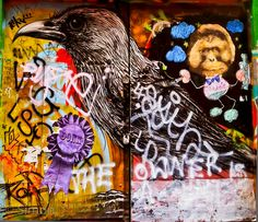 London East End, The Raven. One of my favorite graffitis
