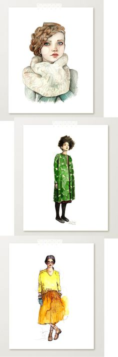 Katie Rodgers, the creator of PaperFashion, is an incredible watercolour artist and most of her blog and shop are made up of these gorgeous fashion illustrations…