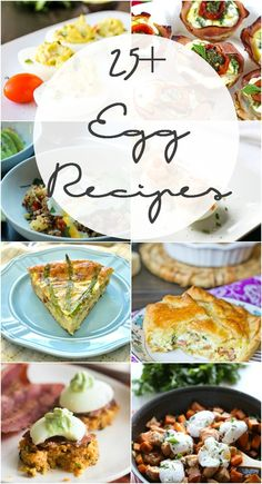 25 plus delicious egg recipes to try!  Pin now and come back after Easter!