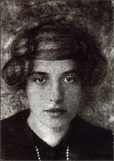 """3wings: """" Portrait de sa fiancée, Jadwiga Janczewska, 1913 Stanislaw Ignacy Witkiewicz """""""