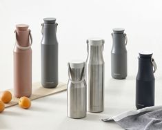 The LocknLock Metro Tumbler takes a minimalist approach to the insulated water bottle designed for the urban environment. Its unique double spouted cap design makes it comfortable and easy to drink from. The bottle accommodates large ice cubes and is. Water Bottle Caps, Water Bottle Design, Insulated Water Bottle, Insulated Tumblers, Timeless Design, Modern Design, Dashboard Phone Holder, Industrial Design, Tableware