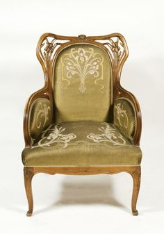 Art-Nouveau Armchair What's Art ? To answer the question of what's art history, we first Art Nouveau Interior, Art Nouveau Furniture, Art Nouveau Architecture, Art Nouveau Design, Art Furniture, Furniture Styles, Antique Furniture, Design Art, Antique Chairs