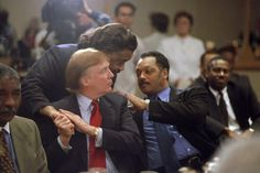Donald Trump, Jesse Jackson, Al Sharpton at launching of Rainbow Coalition's Wall Street Project at the WTC - 1996