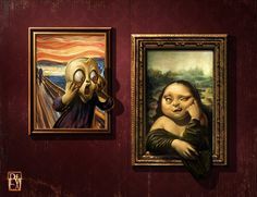 Antonio de Luca - The Scream VS Mona Lisa