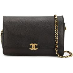 Chanel Vintage flap crossbody bag ($3,935) ❤ liked on Polyvore featuring bags, handbags, shoulder bags, black, crossbody flap purse, chanel, vintage handbags, crossbody purse and chain crossbody