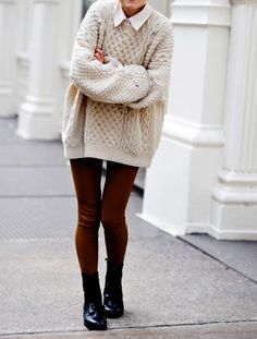 Your outfit should be cozy enough to keep you warm but additionally, it needs to seem good too. Christening outfits are offered in various budget strengths. The ideal travel outfit is in fact super… Sweater Outfits, Fall Outfits, Cute Outfits, Sweater Tights, Man Sweater, Cream Sweater, Sweater Fashion, Dress Outfits, Hipster Outfits