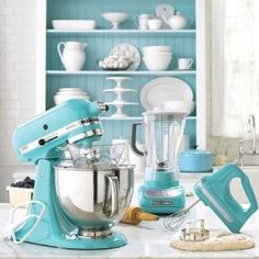 Mixers, blenders, paint and so much more -- all in teal!