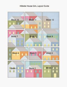 Pretty Little Quilts: Hillside Houses QAL: Laying Out Your Blocks xxx
