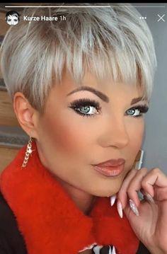 Short Silver Hair, Short White Hair, Short Choppy Hair, Super Short Hair, Short Hairstyles For Thick Hair, Short Hair Styles Easy, Short Hair Cuts For Women, Short Haircuts, Edgy Hair
