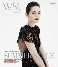 #houseofmagazines | Marion Cotillard Gets Sultry for the July/August 2012 Cover of WSJ Magazine