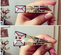 get inspired from this romantic idea, we ll use it for treasure hunt to reveal them their secret messages
