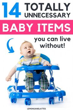 Tips for new moms. Read the 14 totally unnecessary baby items you can live without. My 2 cents the baby walker is a lot of fun and I used a ton of baby powder. Baby Changing Tables, Baby Ruth, Baby Driver, Baby Girl Names, Baby Boys, How To Speak Spanish, Baby Shark, First Baby, Parenting Advice