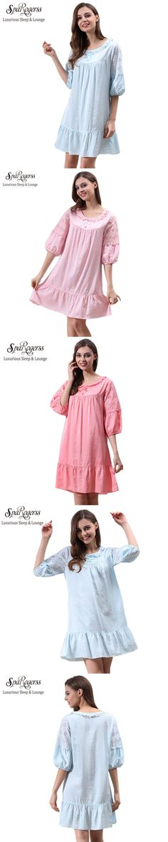 SpaRogerss Brand Cotton Women Nightgown XL 2017 Summer Ladies Princess Nightgown Ruffles Leisurewear Woman Sleep Lounge M5652