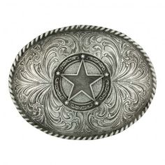 754a971622090 Manufacturer  Montana Silversmiths Style In this oval shape classic  antiqued silver-tone Attitude belt buckle, a star framed in a circle de