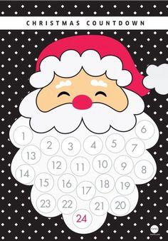 plantilla calendario de adviento