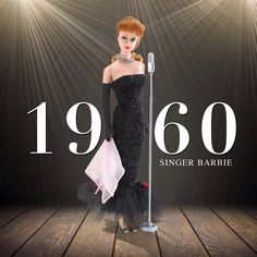 The '60s were a decade of influential female singers. They hit the stage, and the high notes. #TBT Solo In The Spotlight Barbie, 1960.  #YouCanBeAnything