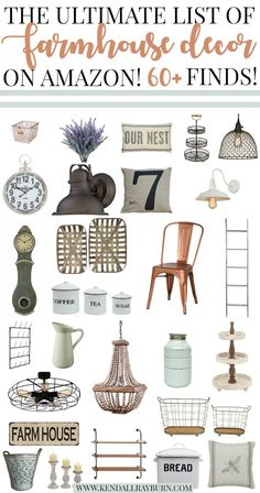 The Ultimate List of Farmhouse Decor on Amazon The Best of home decor in 2017.