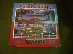 Farm Country Jigsaw Puzzle Dowdle Folk Art 60 Piece 16 X 20 #DowdlePuzzles
