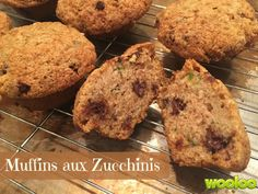 Wooloo | Ma recette préférée de muffins aux zucchinis Muffin Recipes, Oui Oui, Vegetable Recipes, Banana Bread, Zucchini, Food And Drink, Gluten, Snacks, Vegetables