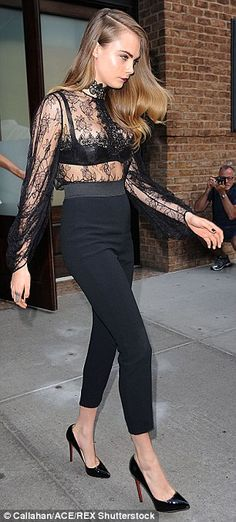 Ready to ride: Cara has been busy promoting her upcoming movie Paper Towns, and was spotte...
