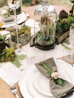 wedding table decoration forest - Szukaj w Google