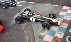 Formula 1 - I think it's Dan Gurney. maybe Jim Clark? Lotus F1, Audi, Porsche, Grand Prix, Subaru, Ferrari, Toyota, Classic Race Cars, Gilles Villeneuve