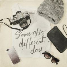 Image shared by Hollister Co. Find images and videos about girl, fashion and photography on We Heart It - the app to get lost in what you love. Image Photography, Hollister, Dog Tag Necklace, Sunglasses Case, Chic, Winter, Heart, Jewelry, Pictures