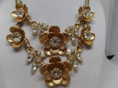 Beautiful Vintage Marquise Crystal Floral by OnTheMarkVintage