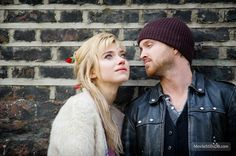 They are so adorable together! - Imogen Poots and Aaron Paul in A Long Way Down