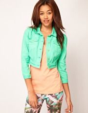 Mint denim jacket--yes please
