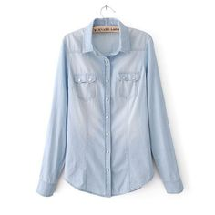 Plus Size Women Long Sleeve Blouses Denim Shirts Ladies Spring Autumn Jeans Blusa Feminina 2015 Jacket Blouse Femme Tops YB441-in Blouses & Shirts from Women's Clothing & Accessories on Aliexpress.com | Alibaba Group saved by #ShoppingIS - romantic blouses, formal blouses, sleeveless white blouse *sponsored https://www.pinterest.com/blouses_blouse/ https://www.pinterest.com/explore/blouse/ https://www.pinterest.com/blouses_blouse/red-blouse/ http://www.bluefly.com/women/clothing/tops/blouses