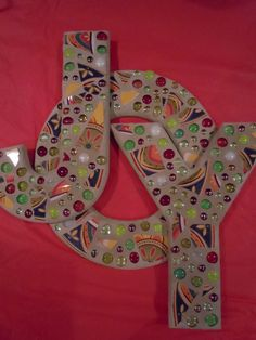 JOY  Large Mosaic Letters With Spanish by totallylegalpot on Etsy, $99.95