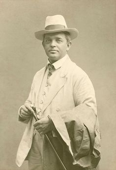 Smartly dressed Carl Nielsen, 1908.  Nielsen is best remembered for his 6 symphonies, 2 operas, concertos for various instruments, and 4 string quartets.
