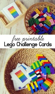 Perfect activity for the LEGO lovers in your house! These FREE cards are great for developing fine motor skills, problem-solving skills, boosts creativity and teaches little learners to follow step by step instructions.