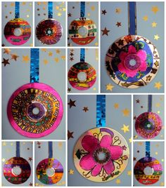 gives me an idea for an ornament... glue a ribbon between two cds & decorate!