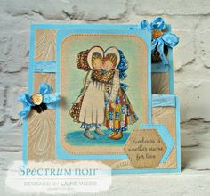 Dream Laine: Creating a vintage feel with kraft! #spectrumnoir #crafterscompanion #hollyhobbie #vintage #shabby/chic