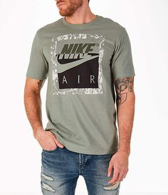 Nike Men's Sportswear HBR T-Shirt Branded T Shirts, Printed Shirts, Custom Shirts, Tee Shirts, Nike Clothes Mens, Nike Outfits, Shirt Style, Nike Men, Shirt Designs