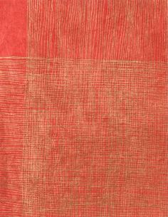 Lokta Gold Crossed Lines on Red Fine Paper