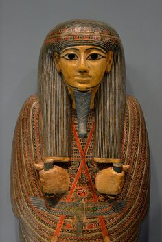 Third Intermediate Period, 21st Dynasty (ca. 950-900 BCE). From Thebes. Wood, painted. H