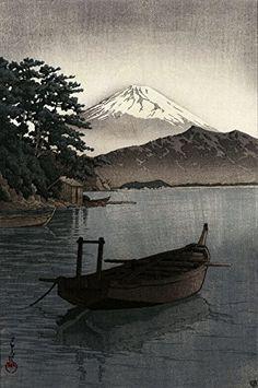 "Japanese Art Print ""Nagahama Beach in Mito"" by Kawase Hasui. Shin Hanga and Art Reproductions http://www.amazon.com/dp/B01E8TIRAS/ref=cm_sw_r_pi_dp_vi4dxb0F1G64F"