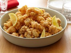 Popcorn Rock Shrimp with Spicy Honey from CookingChannelTV.com